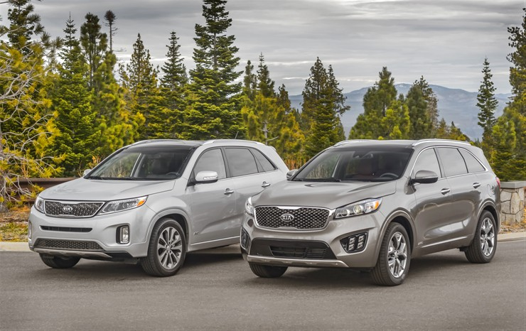 Kia Sorento 2016 - Side by side
