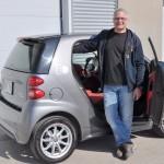 Pierre Ostiguy et sa Smart électrique