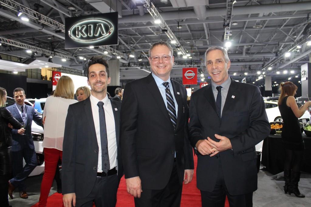 Suly : Josquin Frascadore, représentant des ventes, Denis Tardif, président, et Marcel Pinard, consultant.