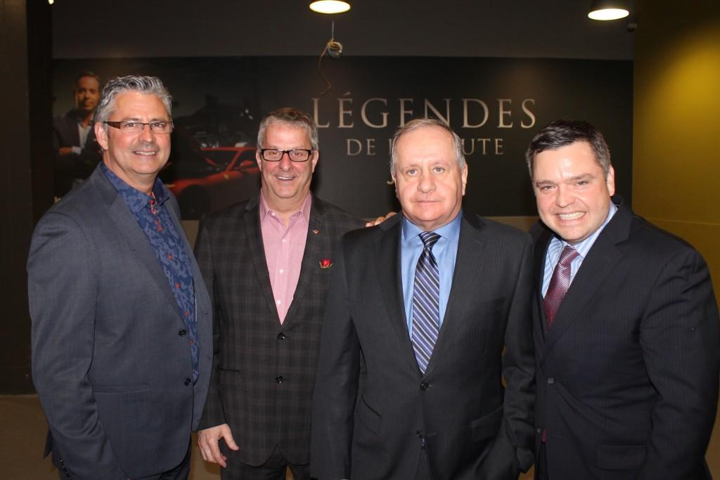 Pierre Berthiaume, de NAPA, était en compagnie de Jacques Maheux et Pierre Beaudoin, de CAA Québec, ainsi que de son collègue de NAPA, Alain Primeau.