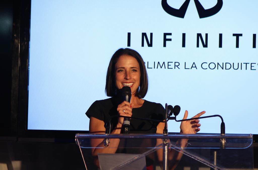 Cathy Laroche, la vice-présidente communications, marketing et médias du Groupe ALBI le Géant, a tenu le rôle de MC avec une charmante efficacité