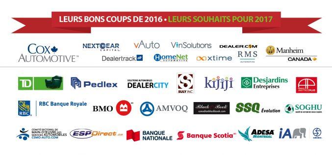 Les fournisseurs des concessionnaires du Québec: les bons coups de 2016 et les plans pour 2017
