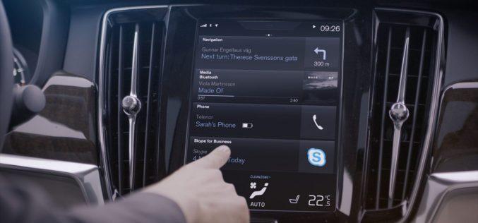 Volvo intègre l'application Skype For Business à sa Série 90