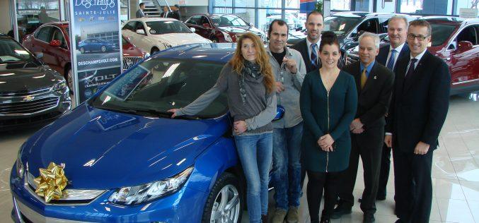 GM et Hydro-Québec font un heureux