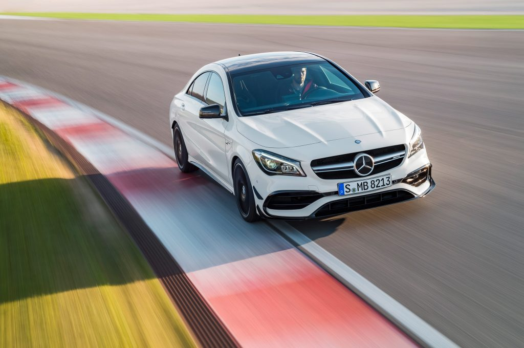 2017-Mercedes-AMG-CLA45-front-end-in-motion-02