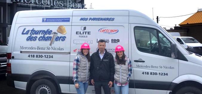 Mercedez-Benz St-Nicolas en tournée: Troisième édition de la tournée des chantiers