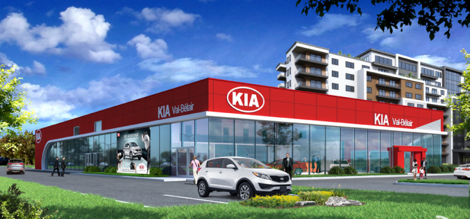 Un des premiers bâtiments Red Cube de Kia sera érigé dans la région de Québec