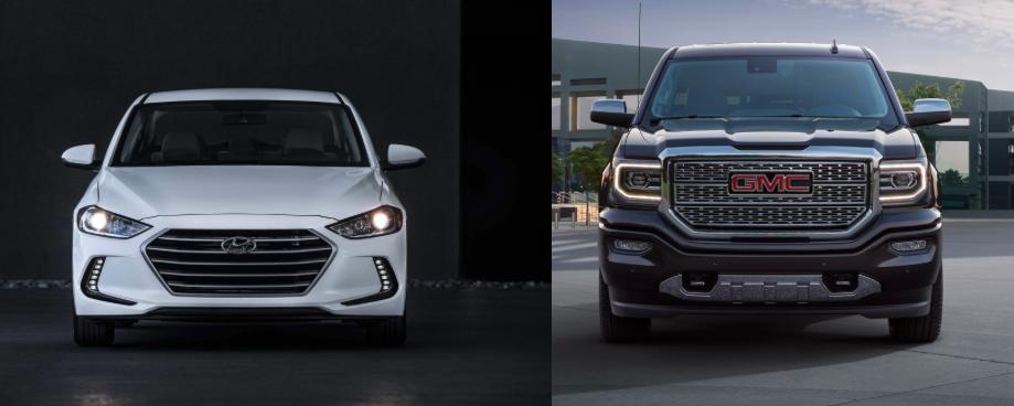 Hyundai Elantra VS Ram 2017