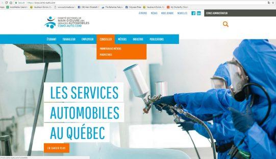 Nouveau site Web pour le CSMO-Auto