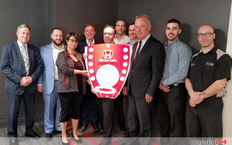 Honda de la Capitale honoré parmi ses pairs pour son expérience client