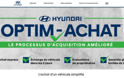 Hyundai Canada veut simplifier la vie de ses clients avec le programme Optim-Achat