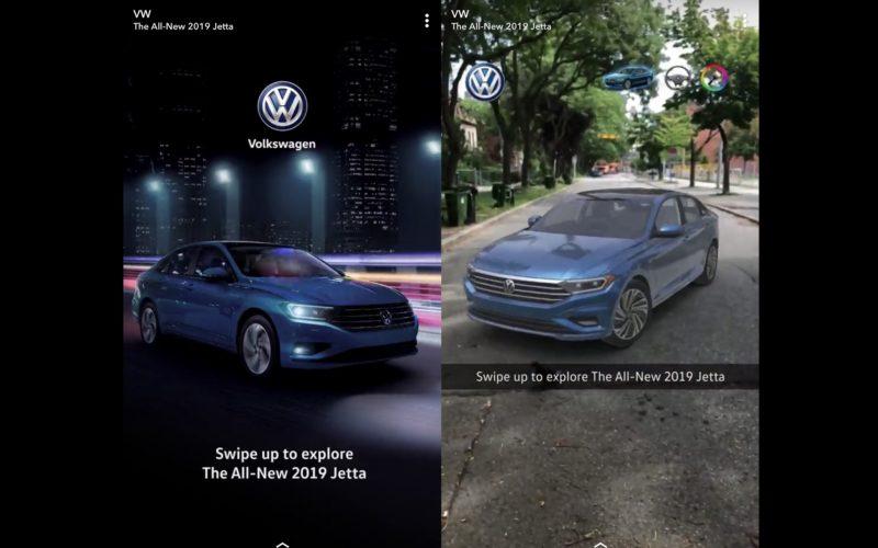 Volkwagen, la Jetta 2019 et Snapchat