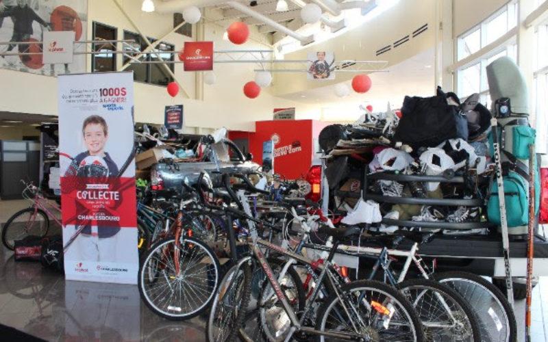 Charlesbourg Toyota collecte les équipements de sport usagés pour une huitième année