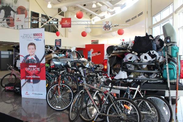 Charlesbourg Toyota collecte les équipements de sport usagés