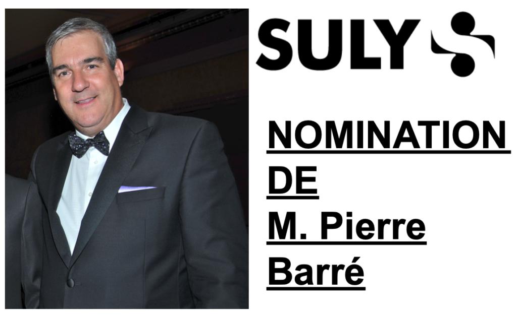 Suly: Nomination Pierre Barré