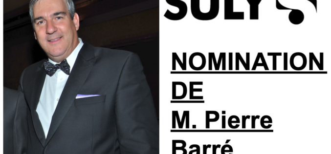 Suly: Nomination de Pierre Barré