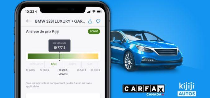 Un nouvel outil de CARFAX Canada disponible sur Kijiji Autos
