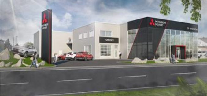St-Hyacinthe Mitsubishi, première concession arborant la nouvelle image du constructeur