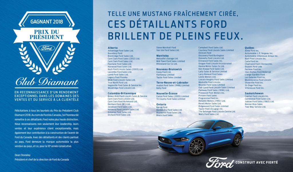 Ford Prix du Président — Club Diamant de Ford