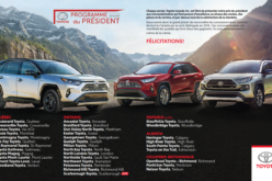 Douze concessions Toyota du Québec reçoivent le Prix du président 2018