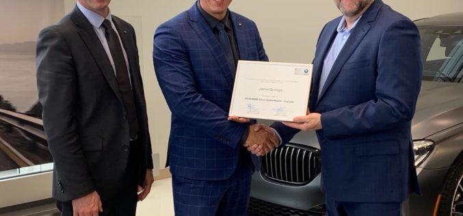 Déjà une première mention chez BMW Lévis grâce à Jaime Quiroga