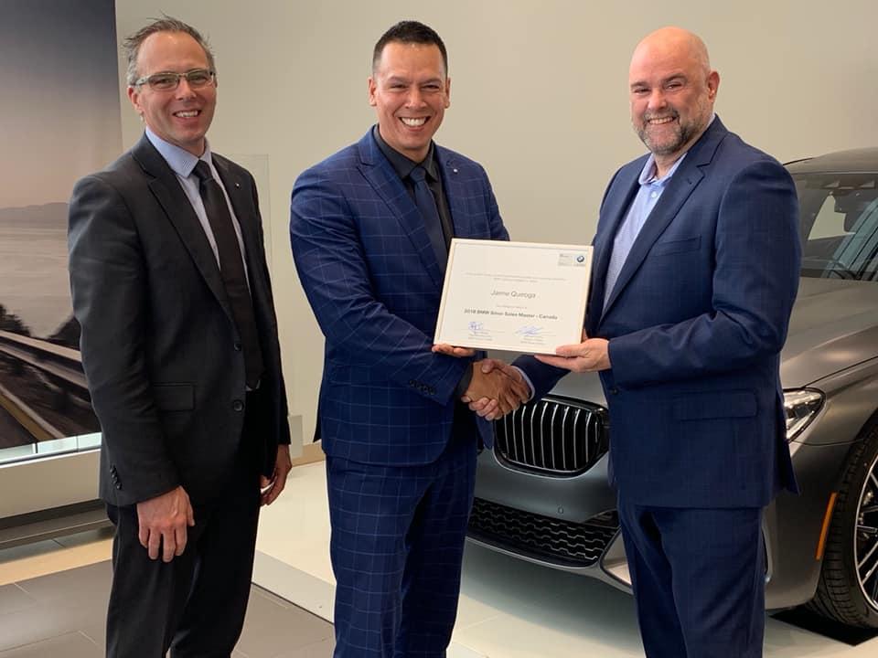 Jaime Quiroga, Silver Sales Masters, BMW Lévis