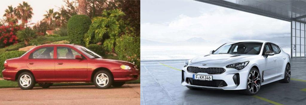Kia Sephia 1999 VS Kia Stinger 2019