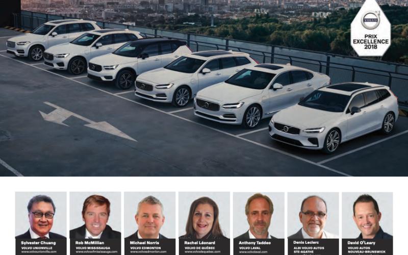 Prix Excellence 2018: Volvo récompense trois concessionnaires du Québec
