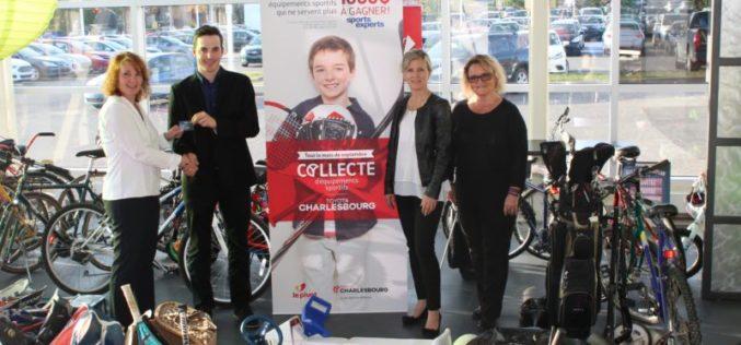 La 9e collecte d'équipements de Charlesbourg Toyota: donner son équipement sportif usagé pour une bonne cause