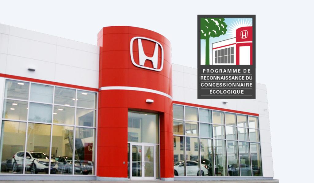 Programme de reconnaissance du concessionnaire écologique Honda