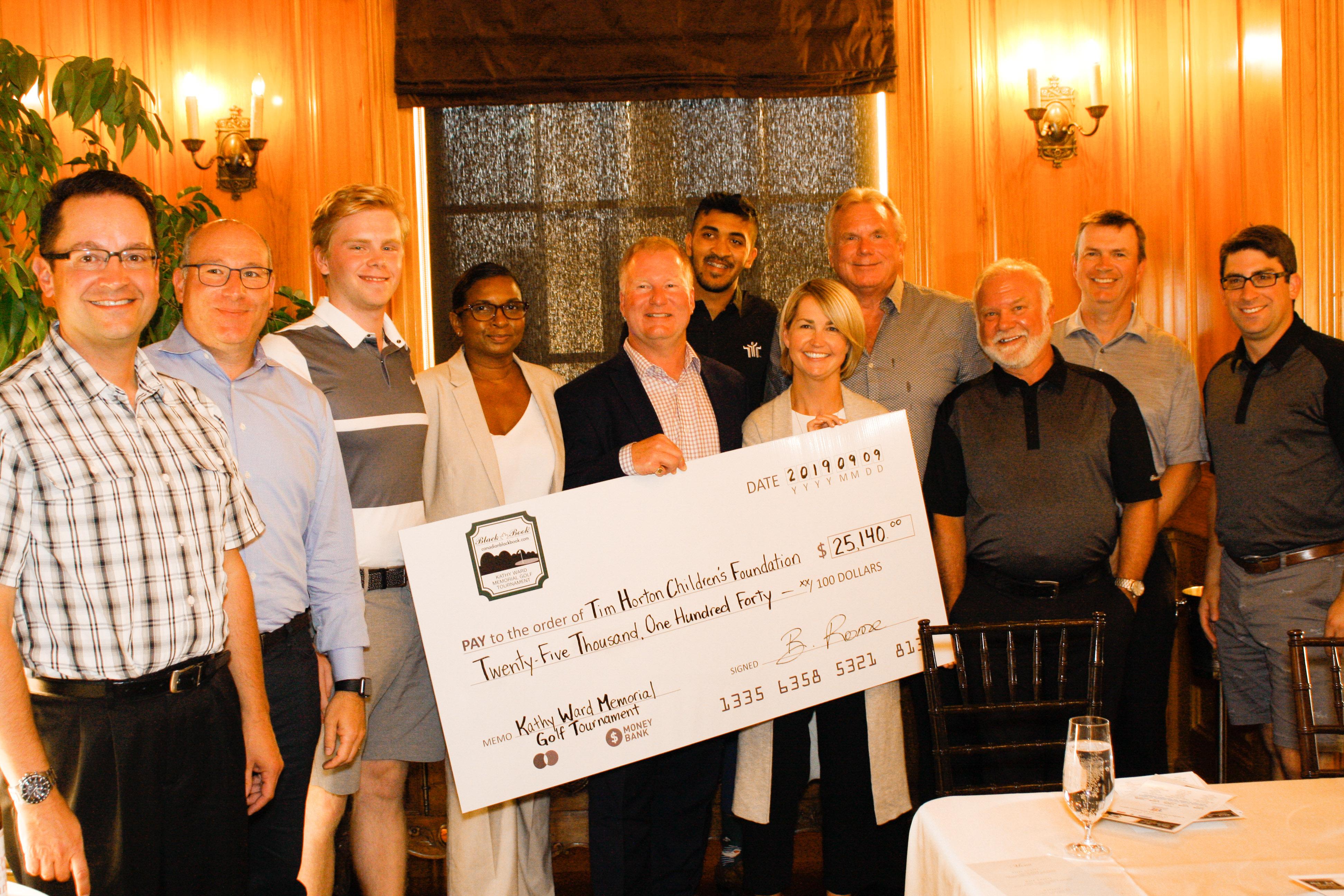 Le Tournoi de golf Kathy Ward de Canadian Black Book recueille plus de 25 000 $ pour la Fondation Tim Hortons