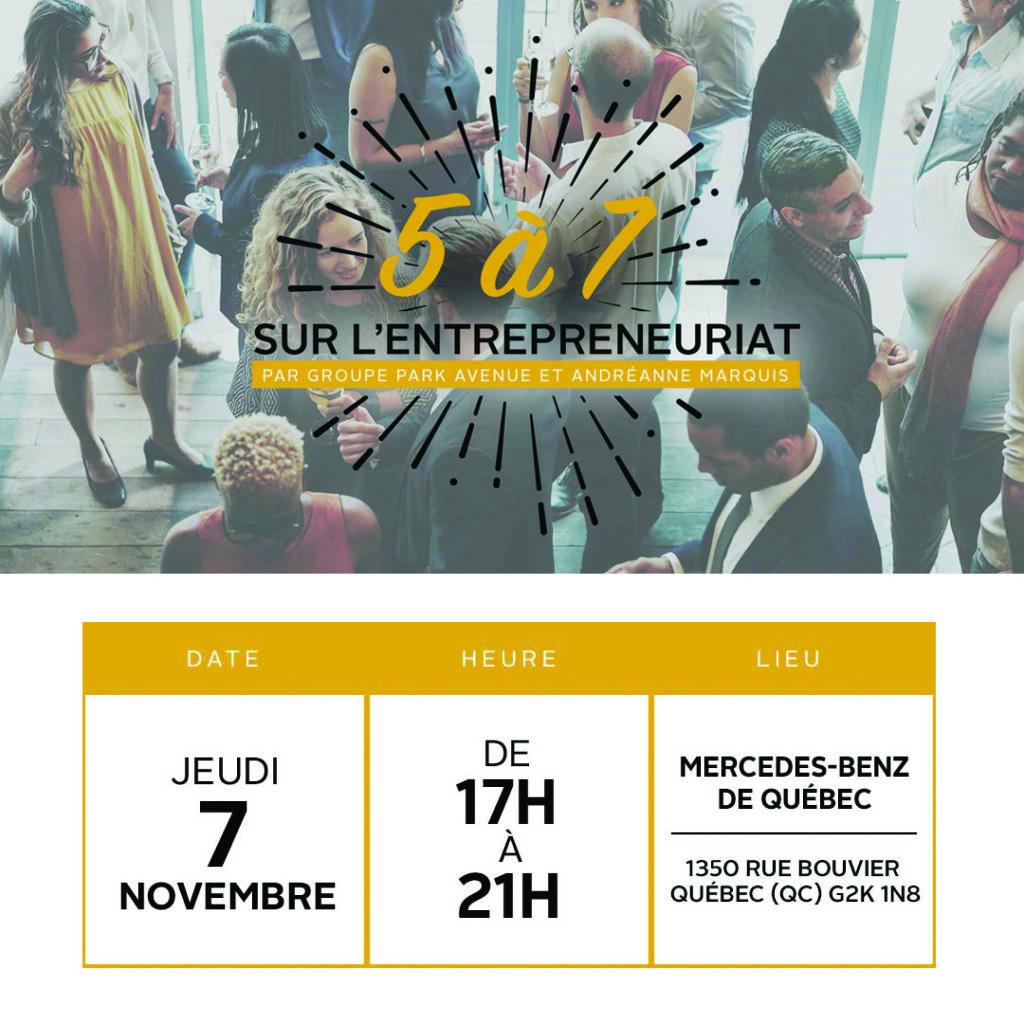 Conférence Entrepreneuriat Mercedes-Bens de Québec