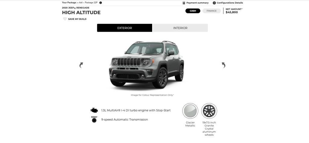 Jeep Renegade 2019 tout équipé