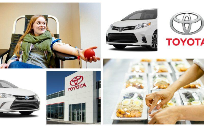 Toyota et ses concessionnaires apportent leur aide à Héma-Québec et La cantine pour tous