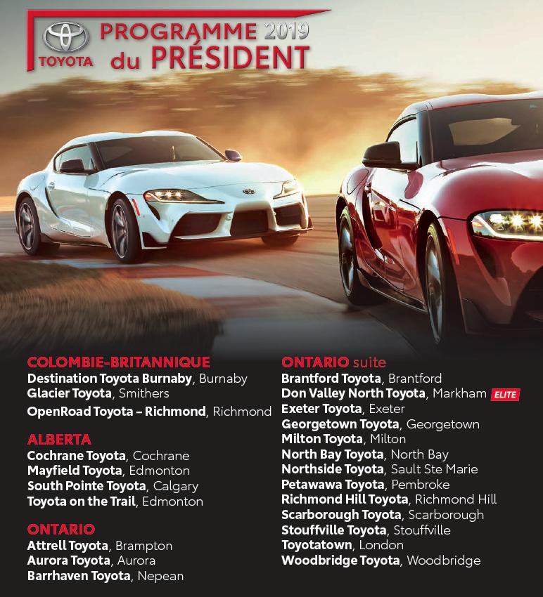 Prix président Toyota