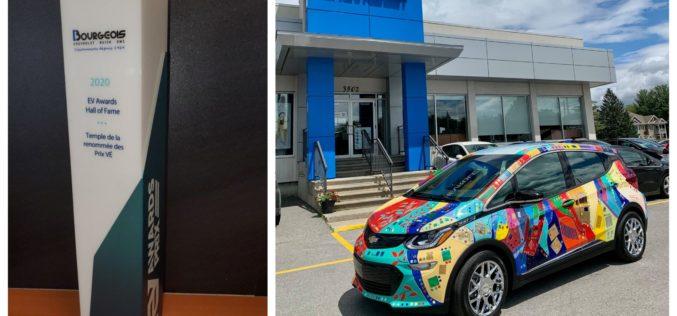 Bourgeois Chevrolet, introduit au Temple de la renommée des prix VÉ