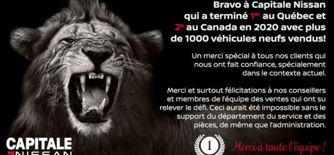 Capitale Nissan : sacré meilleur vendeur de la marque Nissan au Québec