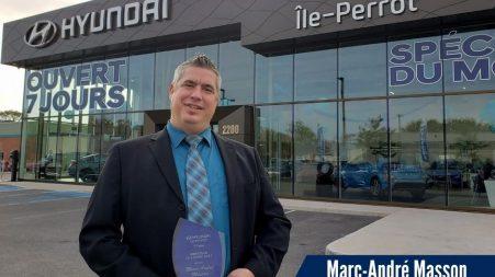 Marc-André Masson, « directeur de l'année » chez Hyundai Ile-Perrot