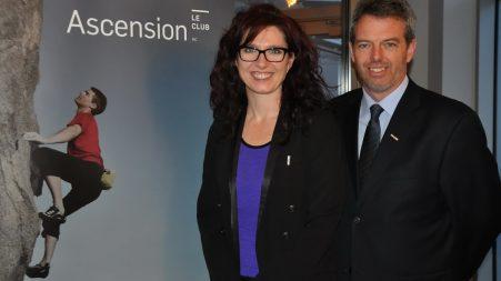 Les producteurs de l'évènement du 2 février : Marie-France Tremblay, conseillère principale communications et marketing, et Mario Champagne, chef de la direction Groupe PPP.