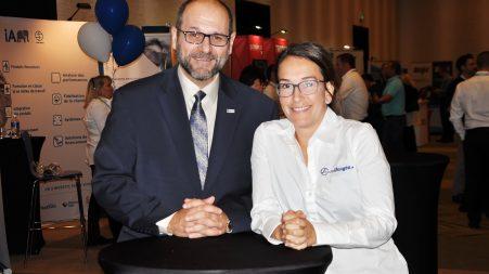 Steeve De Marchi directeur général de l'AMVOQ et Catherine Langlois, directrice du développement et markéting